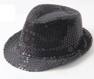 Шляпа эстрадная с пайетками черная