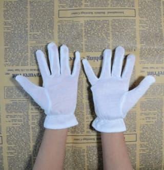 Перчатки белые для танцев и выступлений