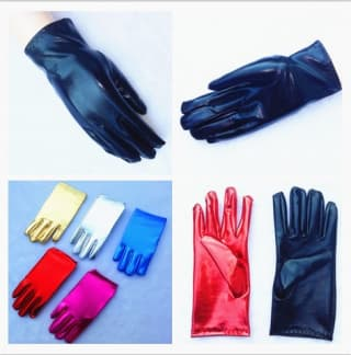 Перчатки лайкровые металлик