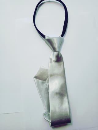 Атласный галстук разных цветов на молнии-замке