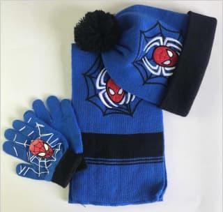 "Комплект ""Человек-паук"" шапка, шарф и перчатки"