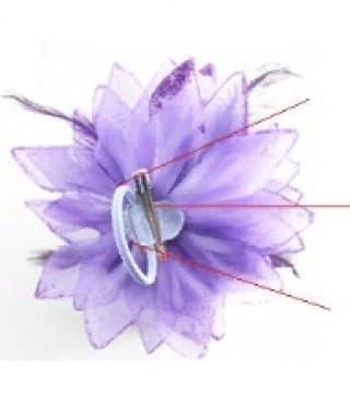 Цветок с перьями разных цветов