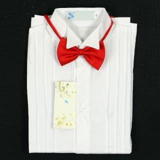 Белая рубашка в комплекте с бабочкой