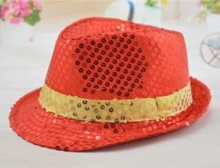 Шляпа эстрадная с пайетками разных цветов