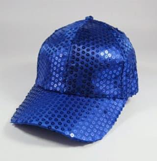 Кепка эстрадная с пайетками синяя