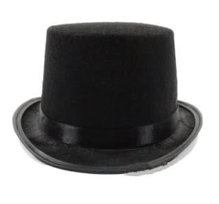Шляпа цилиндр черный детский и взрослый