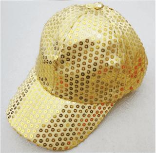 Кепка эстрадная с пайетками золотистая