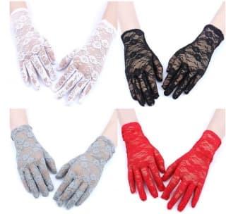 Перчатки ажурные гипюровые