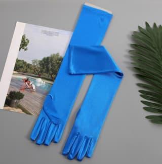 Перчатки длинные атласные