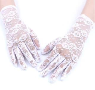 Перчатки ажурные гипюровые белые