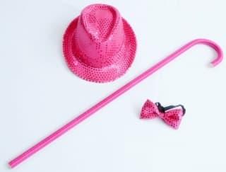 эстрадная одежда джазовый танцевальный набор: шляпа, трость и бабочка