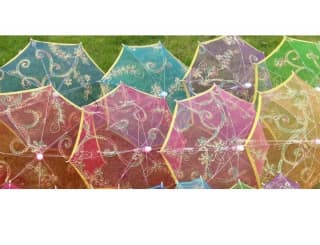 Зонтик детский с пайетками разных цветов