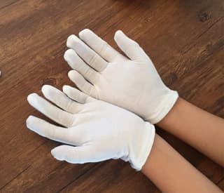Перчатки белые для танцев и для пантомимы