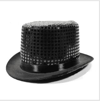 Шляпа цилиндр с пайетками