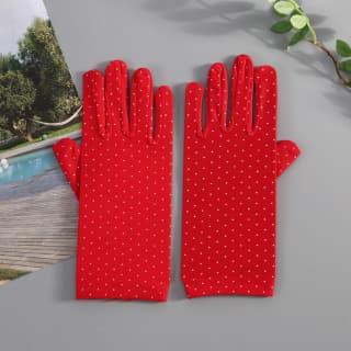 Перчатки в горошек