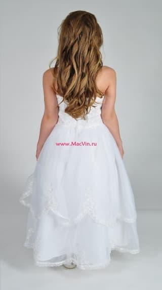 """Нарядное белое платье """"Антуанетта"""""""