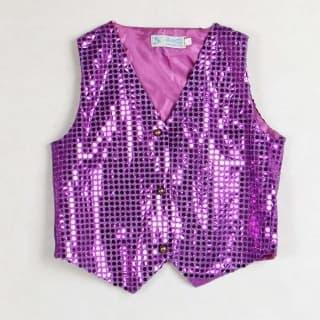 эстрадная одежда жилет блестящий для танцев и выступлений разных цветов пайетками