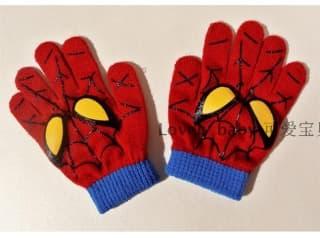 """кепки, шапки комплект шапка и перчатки """"человек-паук"""""""