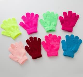 Перчатки вязаные детские и взрослые