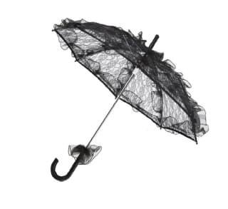 Зонтик кружевной черный