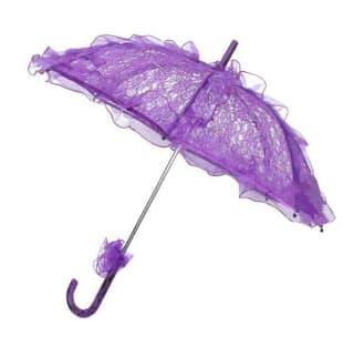 Зонтик кружевной фиолетовый