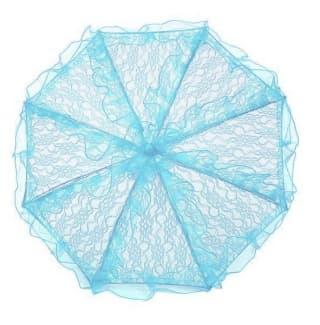 Зонтик кружевной голубой