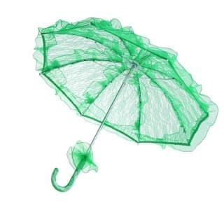 Зонтик кружевной зеленый