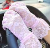 Перчатки ажурные гипюровые с оборкой