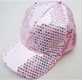 Кепка эстрадная с пайетками розовая