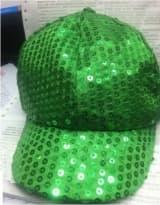 Кепка эстрадная с пайетками зеленая