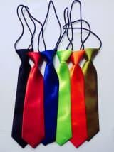 Атласный галстук разных цветов на резинке