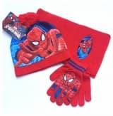 """Комплект красный """"Человек-паук"""" шапка, шарф и перчатки"""
