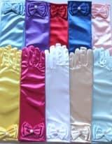 Детские перчатки атласные цветные