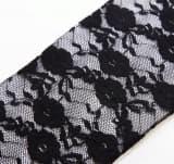 Перчатки ажурные гипюровые длинные черные
