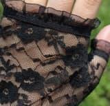 Перчатки ажурные длинные без пальцев