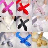 Перчатки атласные удлиненные взрослые разных цветов
