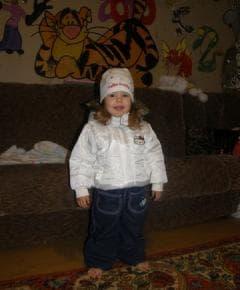 Куртка белая Китти на девочку