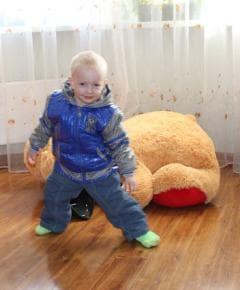 Синяя курточка на мальчика